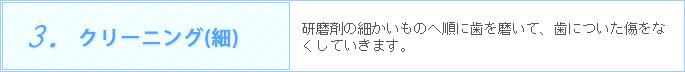 3.クリーニング(細)