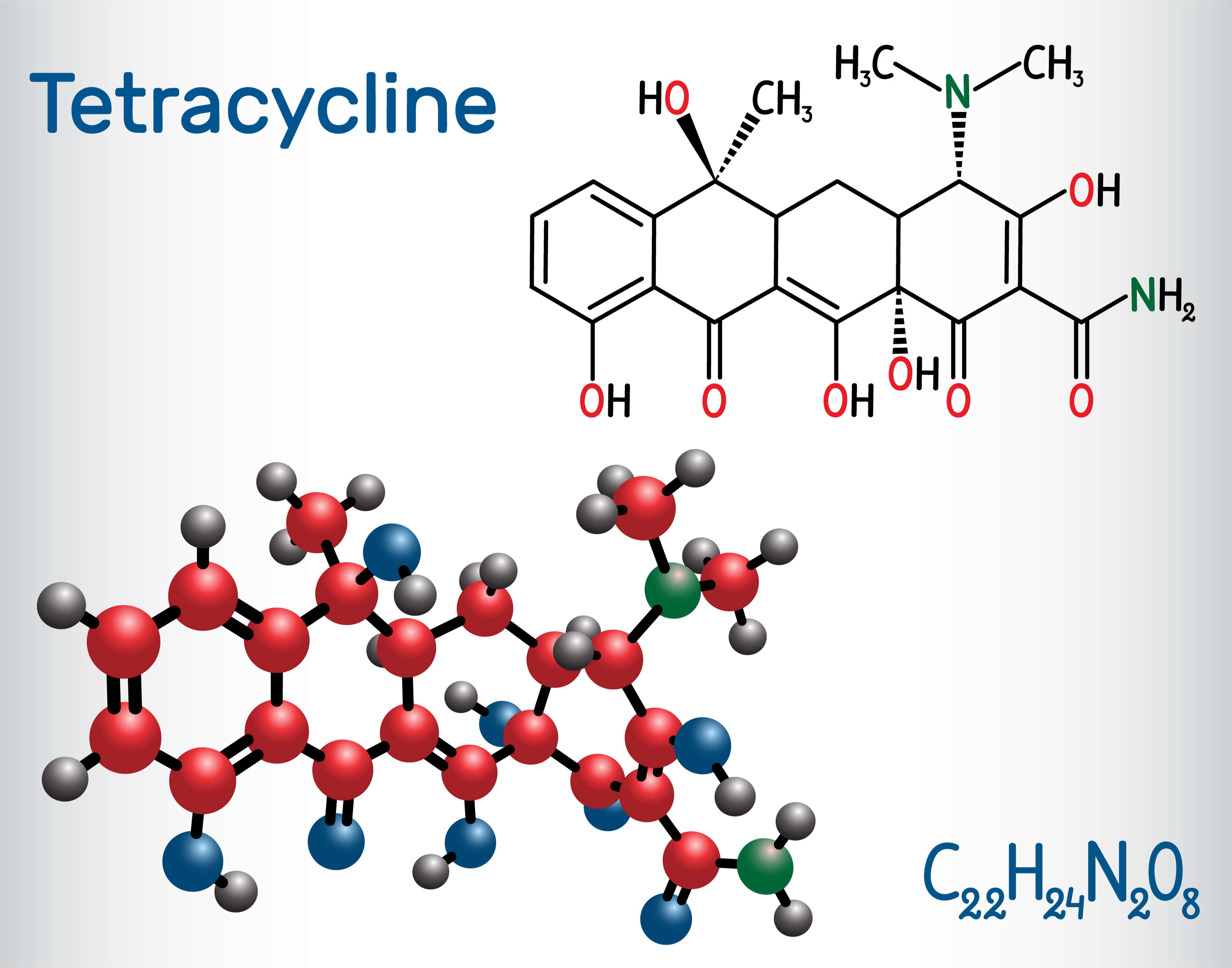 テトラサイクリン分子構造